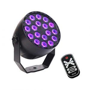 18 LEDs UV LED Par Light, La lumière d'étape violette portative de LED, son multifonctionnel a activé la tache clignotante activée par télécommande d'IR de mini pour des divertissements d'intérieur