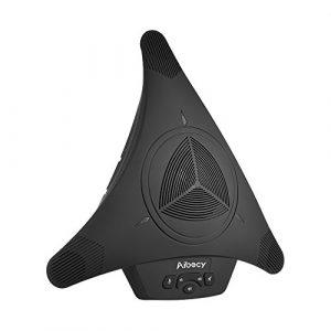 Aibecy USB Plug & Play Microphone Omnidirectionnel Haut-Parleur de haute puissance 360 ° pour Réunion de Vidéo d'Affaires
