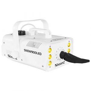 BEAMZ SNOW900LED MACHINE À NEIGE 6 LEDS • Effets flocons de neige très réaliste • Télécommande sans fil pour contrôle de l'appareil à distance • Grand réservoir 1L • Poids : 2.2 kg