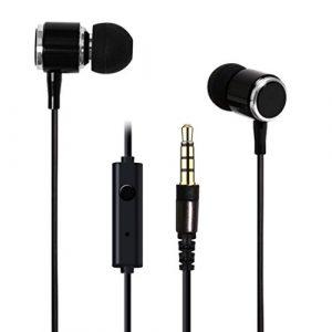 bescita 3.5mm stéréolithographie Super Bass écouteurs intra-auriculaires Casque Casque pour iPhone Samsung Galaxy, noir