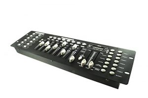 Contrôleur de jeux de lumières DMX Effets discothèque pour DJ, 192canaux, DMX 512