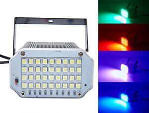 Éclairage de scène 36 LED, Latta Alvor Lumière Stroboscopique Auto Stroboscope Disco Projecteur Éclairage de scène de couleur (multicolor, Coquille d'aluminium)