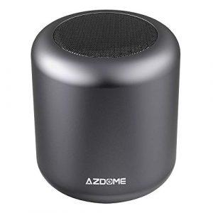 Enceinte Speaker Bluetooth 4.2 AZDOME 5W Haut-Parleur sans Fil Mains Libres Surround 360°Stéréo 8h Autonomie Support Carte TF Compatible avec iPhone Samsung Huawei et Tablette
