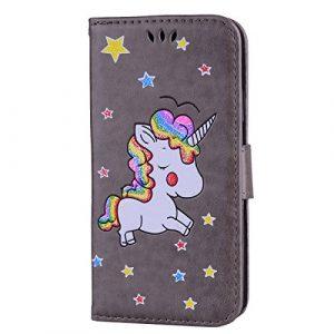 Étui portefeuille à rabat pour Samsung Galaxy avec support pliable pour cartes Samsung Galaxy S7 color two