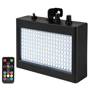 Eyourlife Stroboscope 180 LED Strobe Lampe de Scène Jeux de Lumière avec Télécommande Musique Disco Par Projecteur Effet DJ Éclairage Atmosphère Déco Soirée Fête Bar