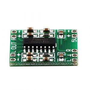 fggfgjg Vert PAM8403 Super Mini Platine d'amplificateur numérique 2 * 3W Classe D Numérique Amplificateur de Puissance de 2,5 V à 5 V Carte Efficace et Chaude Nouvelle (Vert