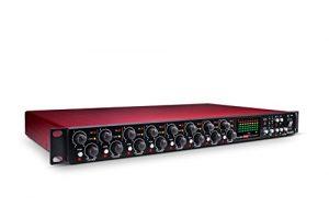 Focusrite Scarlett Microphone Pre Expansion 8canaux avec affichage analogique de compression, 8 ports d'entrée et 8 ports de sortie OctoPre Dynamic