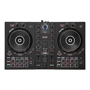 Hercules – DJControl Inpulse 300 – Contrôleur DJ USB – 2 pistes avec 16 pads et carte son – Logiciel et tutoriels inclus