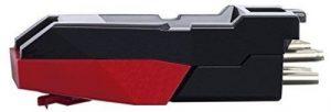 ION Audio – CZ-800-10 – Cellule de Remplacement avec Pointe de Lecture en Céramique pour Tourne Disque – Noir/Rouge