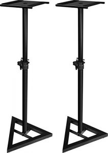 JamStands JS-MS70 Karma Cart Series Pieds pour enceintes de monitoring Ajustables Médium (Import Royaume Uni)