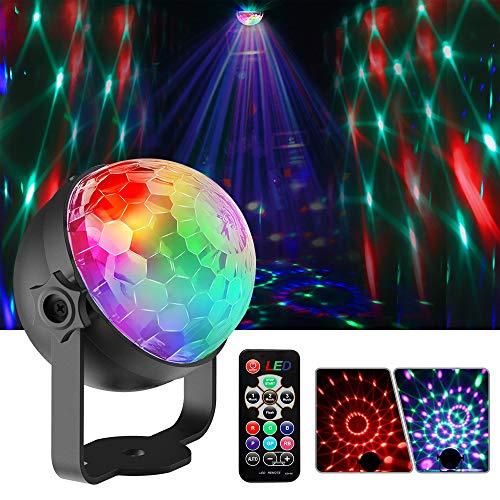 Lampe de Scène Lumière Fête Projecteurs à effets Boule Disco Ampoules de scène à facettes Mini Projecteur Boule Soirée Ball pour Discothèque Fête