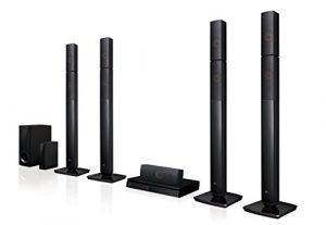 LG LHB655nw Système Home Cinéma avec Enceintes arrière sans Fil (3D Lecteur Bluray, DLNA, Smart TV, Bluetooth, 1000W, 5.1multiroom Sound Bar) Noir