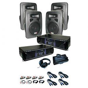 Lido pa-amplificateur 2 x 4 enceintes mic 4800W