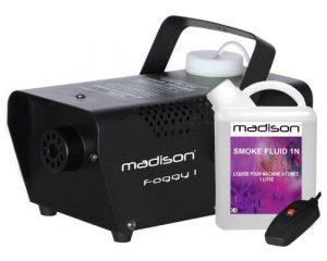 MADISON FOGGY-1 Machine à fumée 400 watts avec télécommande et liquide