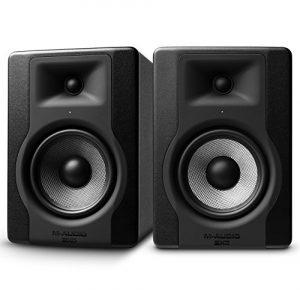 M-Audio – BX5 D3 – Paire de Moniteurs de Studio Pro 100 W 2 Voies avec Woofer 5 Pouces et Acoustique Space Control Intégré pour Production Musicale – Noir