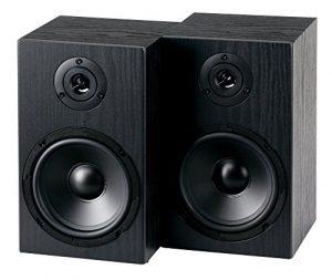 McGrey BSS-265 6,5″ HiFi haut-parleurs d'étagère 40 Watt noir