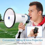Mégaphone Professionnel 40 Watts Pyle avec Sirène, Microphone amovible détachable et Enregistreur vocal.