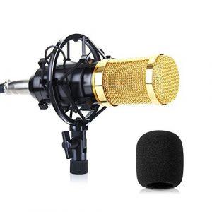 Microphone Condensateur SUMGOTT Studio Microphone professionnel enregistrement studio, pour studio de radiodiffusion, studio de sonorisation, enregistrement