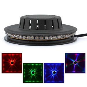 Mini 48 LEDs RGB Éclairage de Tournesol Éclairage Bar Décor Disco Décoration suspendue Lampe Rotative LS-RGB48