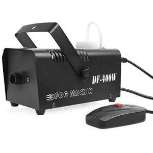 MVPOWER Machine à Fumée Machine à Brouillard Conduit 400W + Télécommande Idéal pour les Fêtes, les Discos DJ, les Bars, les Mariages, les Défilés et les Théâtrales