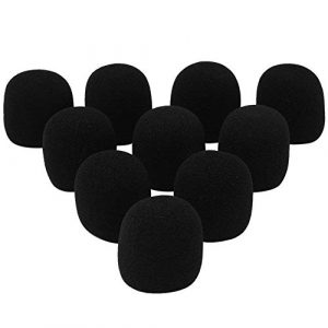 Ndier 10 PCS main tenue couverture éponge Microphone Pare-brise étape Mic Cover Microphone éponge pour Karaoke DJ Black Accessoir/Parts Pour Instruments