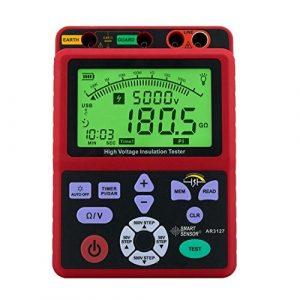 Précis Testeur de résistance d'isolement numérique haute tension 5000V table électronique table 0.0-99.9G ohm résistance AR3127 Affichage numérique