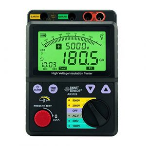 Précis Testeur d'isolement de tension 0-1000G ohm, 5000V AR3126 Affichage numérique