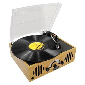 PYLE-HOME PVNTTR22 Retro Belt-Drive Turntable with Three Speeds and AM/FM Radio