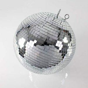 Set de 2x Grande Disco Boules en Verre véritable Glix avec facettes, Ø 75cm, argent–boule à facettes–disco effet 1970Années 1980–showking