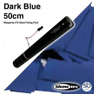 Showtec électrique confettis en forme de 50cm Bleu Foncé