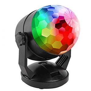 son Activated Party Lights Plug batterie int¨¦rieure ext¨¦rieure Powered/USB Portable In 7 Couleur RBG Rotating Disco Ball lampe stroboscopique Par ¨¦tape Lumi¨¨re pour No?l Salle de voitures a