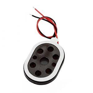 sourcing map 1W 8Ohm Ovale Fil Double Mini Haut-Parleur stéréo Audio Mediant pour GPS Navigateur