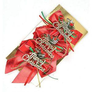 TianranRT Lot de 3 bandes de Noël avec perles Rouge Taille L