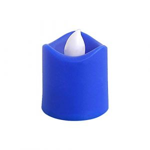TianranRT Mini bougie électronique romantique à LED colorée pour décoration de fête, décoration de table romantique, bleu