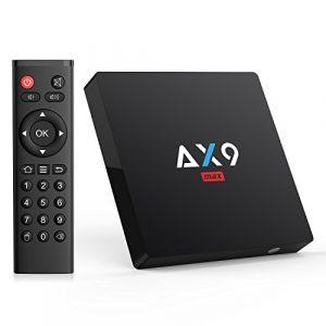 TICTID Android 7.1 TV Box 【2GB RAM+16GB ROM】 AX9 Max TV Box Quad-Core 64bit Wi-FI 2.4G 802.11 b/g/n 100Mbps LAN 4K Android Smart TV Box