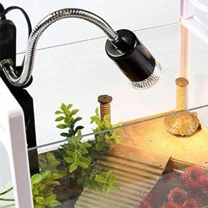 True-Ying Pieds d'éclairage Long Bent Support de Lampe Tortue Tortue de rétroéclairage Soleil Cylindre Rotation à 360° Support de Lampe avec Interrupteur ordinaires Pied de Lampe