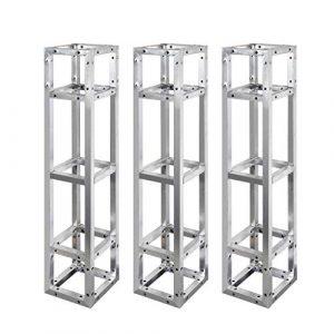 UNHO 3Pcs Structure Alu DJ Poutre Structure Aluminium 1m Poutrelle pour Projecteur éclairage Sono Convient à la Réalisation de Stand d'Exposition, Pont d'éclairage ou Grill Autoporté