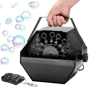 ZITFRI Machine à Bulles, Machine a Bulle pour Enfants, Portable avec Télécommande, Idéale pour Mariages Déco Anniversaire d'Enfants Activités Extérieursg
