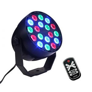 18 LEDs RGB LED Par Light, La lumière portative brillante d'étape de LED, son multifonctionnel a activé la tache mini de clignotant activée par télécommande IR pour des divertissements d'intérieur