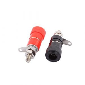 4mm dealMux du haut parleur amplificateur Audio connecteur de banane Binding Post Rouge Noir Paire