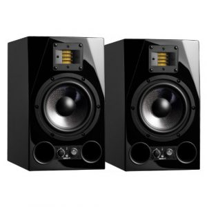 Adam Audio Adam A7x ruban moniteurs avec X-ART Tweeters – Paire 7″ Woofer Noir