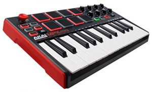 AKAI Professional MPK Mini MK2 – Clavier Maître MIDI/USB 25 Touches Sensibles à la Vélocité avec 8 Pads et Joystick 4 Voies + VIP 3 et Pack de Logiciels Inclus – Noir