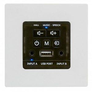 audiop Symphony wallamp/USB encastrable pour encastré Amplificateur 2x 30W avec port USB