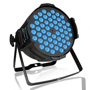 BETOPPER(LPC007-H) Par LED Professionnel disco DJ lumiere DMX-512 54 * 3W RGB LEDs eclairage scene karaoke (180W)