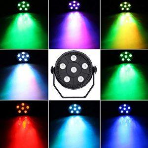 ENUOLI 6 LED de scène Par lumière 3 en 1 Activé son lavage léger RVB Par Disco Party éclairage de la lampe pour effet décorations Dance Floor Disco Club Bar Concert Karaoke Show Home