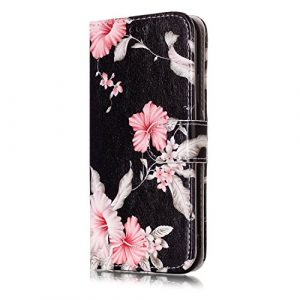 Étui portefeuille à rabat pour Samsung Galaxy avec support pliable pour cartes Étui avec support Samsung Galaxy S6 Edge color seven