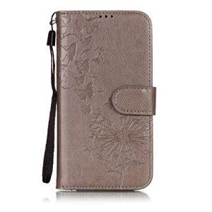 Étui portefeuille à rabat pour Samsung Galaxy avec support pliable pour cartes Samsung Galaxy Note8 color ten