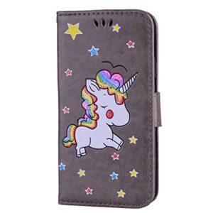 Étui portefeuille à rabat pour Samsung Galaxy avec support pliable pour cartes Samsung Galaxy S6 Edge color two