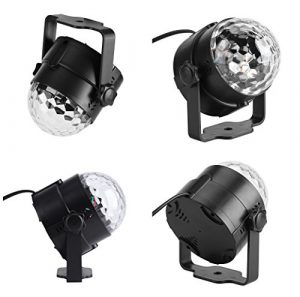 FTVOGUE Lampe LED 3 W 110~240 V Mini RGB avec télécommande 02