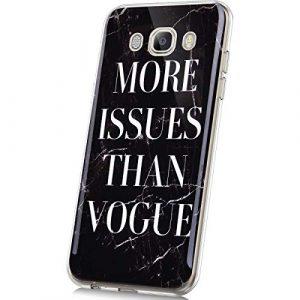JAWSEU Coque Galaxy J5 2016,Silicone TPU Case Marbre,Ultra Mince Souple TPU Téléphone Housse Créatif Motif Flexible Silicone Gel Antichoc Bumper Case Etui Housse,Marbre#1